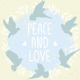 Doves peace and love Stock Photo