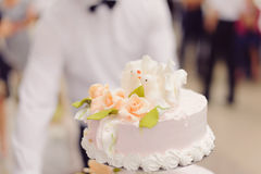 Doves and Roses on Cake Royalty Free Stock Photos