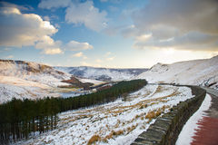 Dovestone Reservoir at Winter Stock Photo