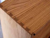 Dovetail Joint Royalty Free Stock Photos