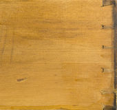 Dovetail on a vintage pine drawer Royalty Free Stock Photography