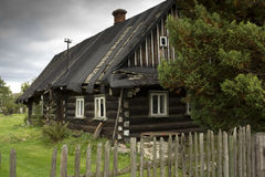 House. Old abandoned wooden house in village Stock Image