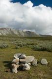 Dovrefjell stones. The Dovrefjel - Sunndalsfjella National park is in a norwegian national mountains Stock Photo