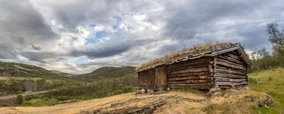 Dovrefjell Sunndalsfjella Norway Old Cabin. This is a photo of an old cabin in Dovrefjell National park in Norway stock photography
