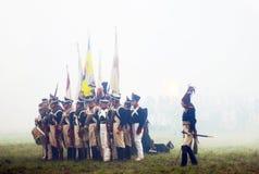 Dowódca i swój wojsko. Zdjęcie Stock