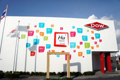 Dow Chemical Pavilion, BOI Fair 2011 Thailand Royalty Free Stock Photos