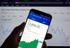 Dow Jones Industrial Average DJI lizenzfreies stockfoto