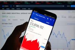 Dow Jones Industrial Average DJI lizenzfreie stockfotografie