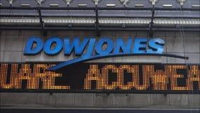 Dow Jones News Ticker Royalty Free Stock Photo
