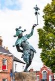 Dowcipniś statua w Avon wewnątrz, Anglia obrazy stock