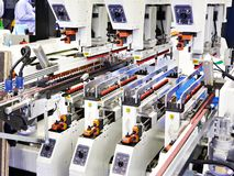 Dowel Boring Machine royalty free stock photography