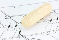 dowels drewnianego Obrazy Stock