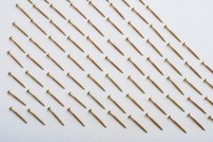 Dowels on white Royalty Free Stock Photos