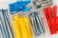 Dowels and screws Stock Photos