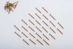 Dowels on white Stock Photography