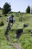 Dowhnill do extrem de Mountainbike Fotografia de Stock