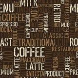 Doświadczenie bezszwowy kawowy wzór. Obrazy Royalty Free