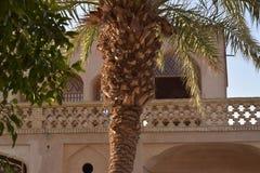 Dowlat Abad trädgård i Yazd, Iran royaltyfria foton