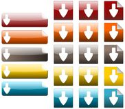 Down arrow. Set of down arrow icon, created with inkscape vector illustration