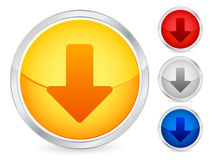 Down arrow button. Arrow down internet button set. Vector illustration Stock Image