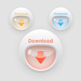 Down arrow colorful buttons Royalty Free Stock Images