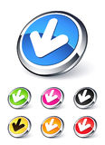 Down arrow icon. Clipart illustration Stock Images