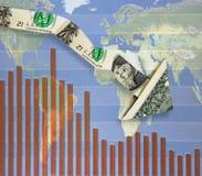 Down arrow world Stock Image