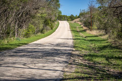 Down a Country Road. Looking down a country road near the Lampasas River Stock Image