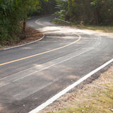 Down a curvy road Royalty Free Stock Image