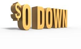 0 Down Stock Photo