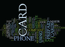 The Down And Dirty On Prepaid Phone Cards Text Background  Word Cloud Concept. THE DOWN AND DIRTY ON PREPAID PHONE CARDS Text Background Word Cloud Concept Royalty Free Stock Images