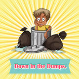 Down in the dumps Royalty Free Stock Photography