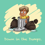 Down in the dumps Royalty Free Stock Images