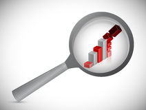 Down graph investigation illustration Stock Photo
