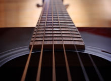 Down the guitar neck Royalty Free Stock Photography