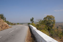Down hill road. In mysore, karnataka, india Stock Photo