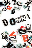 Down inscription Royalty Free Stock Images