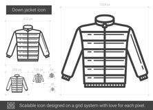 Down jacket line icon. Stock Photos
