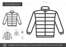 Down jacket line icon. Royalty Free Stock Photo
