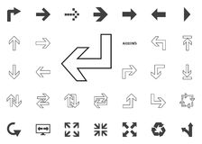 Down and left arrow icon. Arrow illustration icons set. Down and left arrow icon. Arrow illustration icons set royalty free illustration