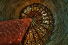 Down the Lighthouse Stairs Royalty Free Stock Image