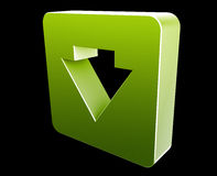 Down navigation icon Stock Photography