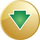 Down navigation icon Stock Image