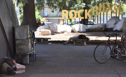 Down and out in Oakland California Stock Photo
