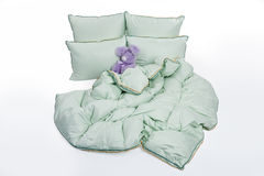Down Pillows And Blanket Stock Image