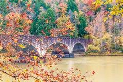 Gatliff Memorial Bridge Cumberland Falls royalty free stock photos
