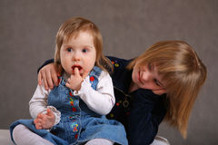 Down's Syndrome Children stock image