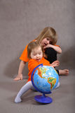 Down's Syndrome Children Royalty Free Stock Image