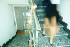 Down the staircase Stock Photos