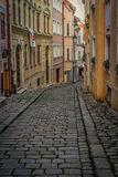 Down the street. Quite streets, ideal for meandering down, in the city of Bratislava Stock Photos